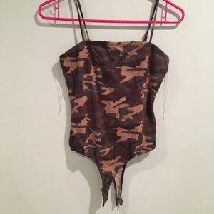 💗Camo Tank Bodysuit